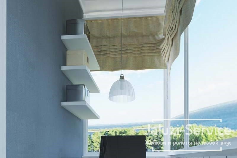 Римские шторы на балконе - эстетично и практично
